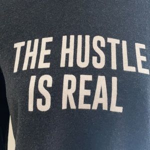 """PST L.A. """"The Hustle is Real"""" Cropped Hoodie S"""